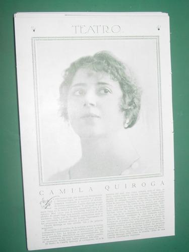 camila quiroga clipping recorte actriz teatro antiguo