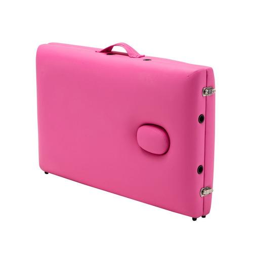 camilla cama masajes portatil spa rosa tipo maleta vp0039