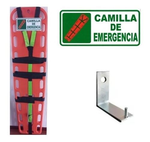 camilla de emergencia + arnés + señal + soporte