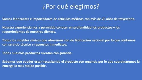 camilla de examen mgm. c/ envío incluido en santiago