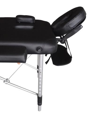 camilla de masaje aluminio 2 cuerpos