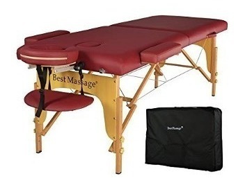 camilla de masaje de dos partes acolchadas plegable,...