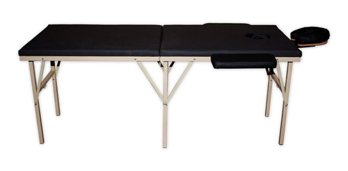camilla de masaje portatil spa en casa. negro. reforzada!