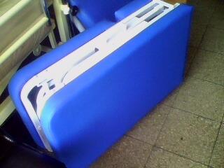 camilla de masaje portatil tipo maletin espuma de cebra