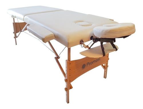 camilla de masajes blanca  + bolso marca promast calidad.