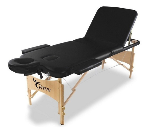 camilla de masajes de madera 3 cuerpos color a eleccion
