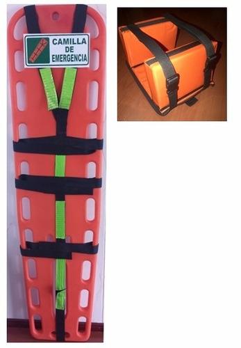 camilla emergencia férula espinal larga + inmovilizador #1