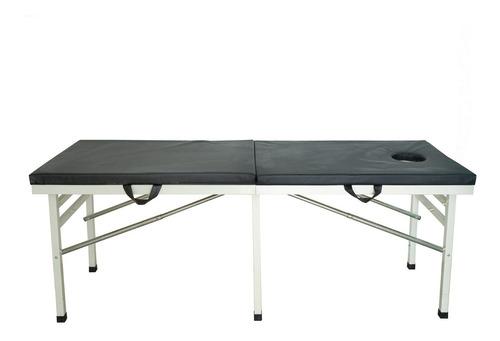 camilla masaje plegable estructura metalica/ impoasia