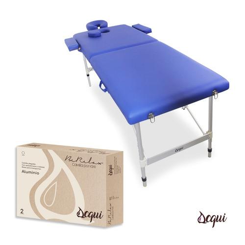 camilla masajes 2 cuerpos portatil azul bolso acqui r3348