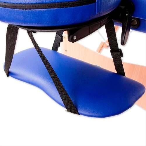 camilla masajes 2c azul + 60 piedras, olla y sabanilla r2862