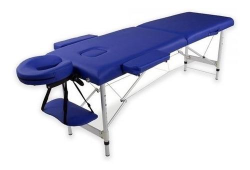 camilla masajes plegable aluminio azul ( 223 ) c & s