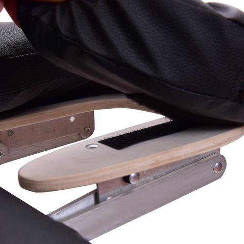 camilla masajes plegable alumino elevapies y apoya brazos