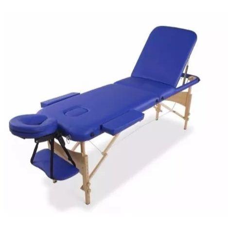 camilla masajes plegable madera 3 cuerp azul (225)