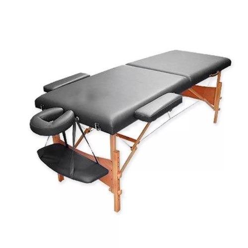 camilla masajes plegable portátil madera negro (212) c & s