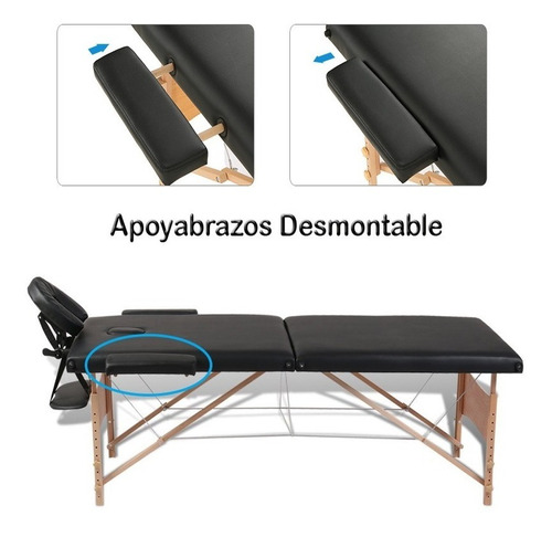 camilla masajes profesional madera maleta 90112/90111