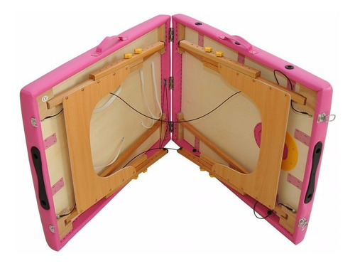 camilla masajes profesional madera  regulable bolso mso-001