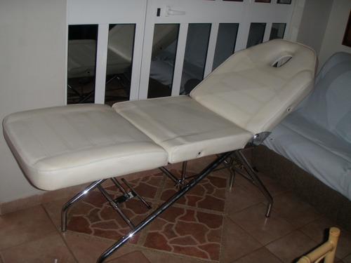camilla multiposiciones para spa masajes estetica depilacion