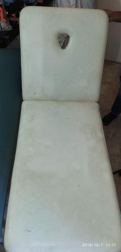 camilla o diván blanca reclinable. excelente precio!