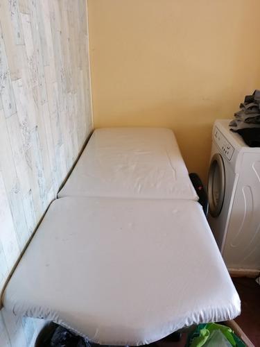 camilla para depilación de fierro fija acolchada color blanc