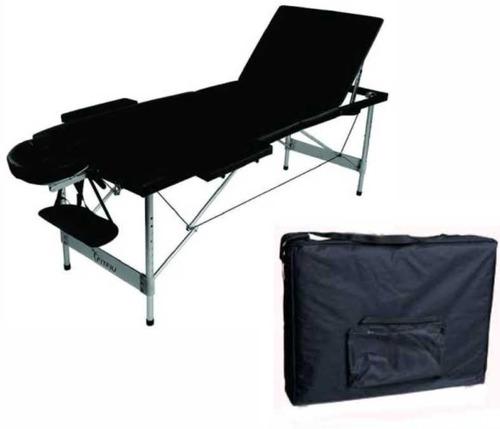 camilla para masajes - 3 posiciones - aluminio milenio