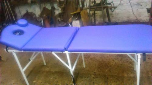 camilla para masajes con cabecera reclinable