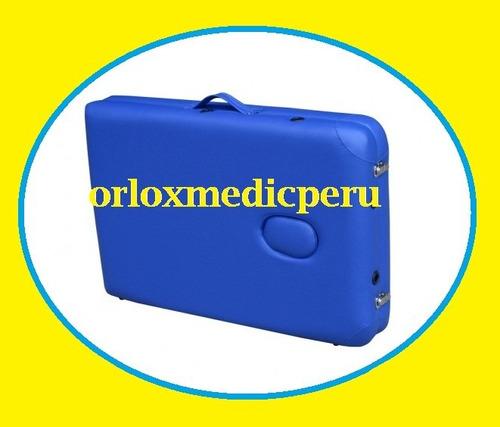 camilla para masajes de aluminio importada + maletinº