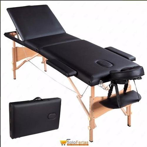 camilla para tatuar masajes kinesiologia de madera 3 cuerpo