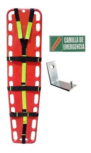 camilla plastica de emergencia+soporte+arnesreflectivo+señal