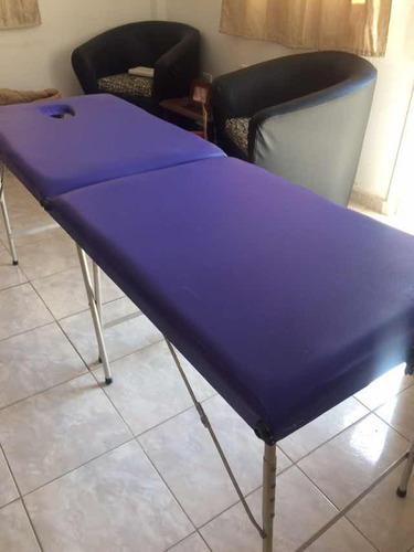 camilla portátil masajes depilaciones spa