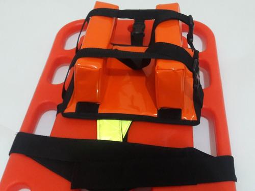 camilla primeros auxilios con cuello bloque arnes y base l