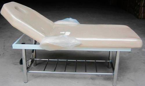 camilla reclinable metálica masajes