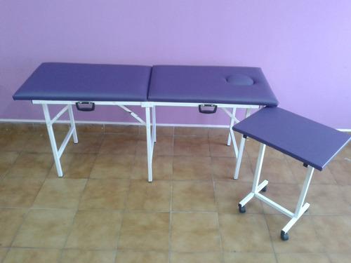 camilla...camilla plegable + mesa auxiliar...fabrica