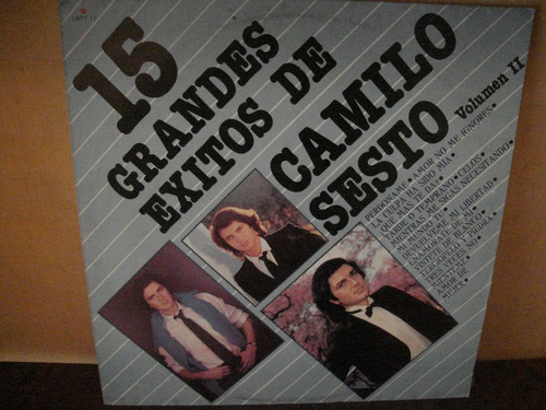 camilo sesto lp 15 exitos vol.2,vinil,acetato