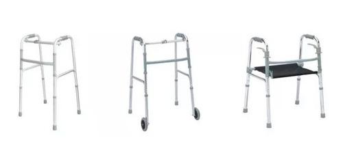 caminador / andador con o sin ruedas plegable para adulto