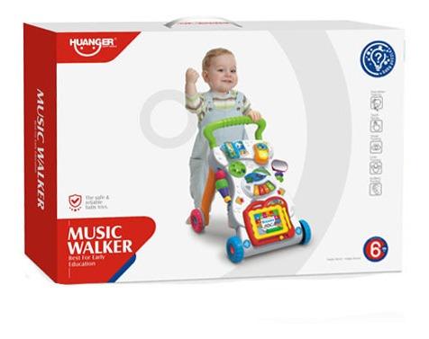 caminador andador p/ bebé juegos música luces led - milenio