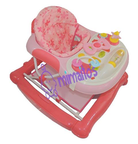 caminador comedor y saltarín 3en1 llantas silicona bebesitos