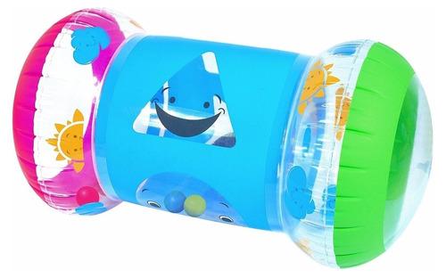 caminador inflable bestway tiene dentro pelotas y campanitas