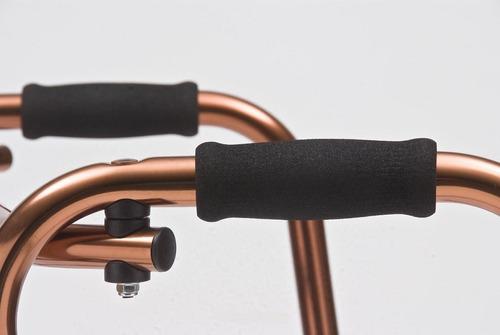 caminador ortopedico paso a paso+fijo plegable aluminiofs919