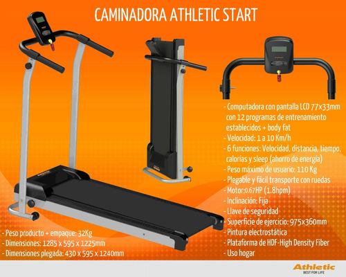 caminadora athletic start home fitness regalo mancuernas