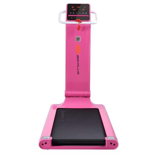 caminadora plegable goplus 1.5 hp color rosa adyav18