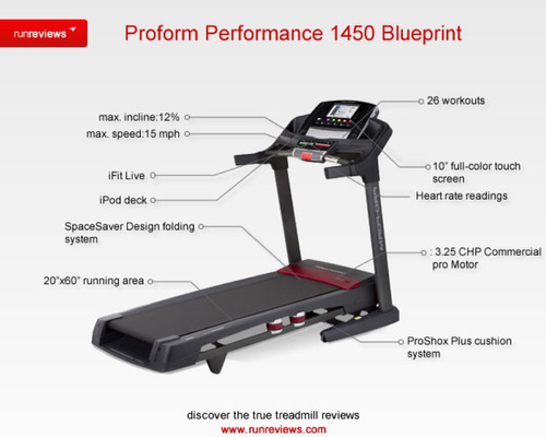 caminadora pro-form performance 1450