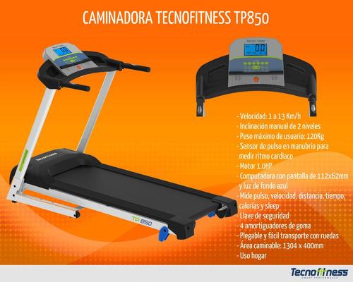 caminadora tecnofitness tp850 exhibición nueva garantía 1año