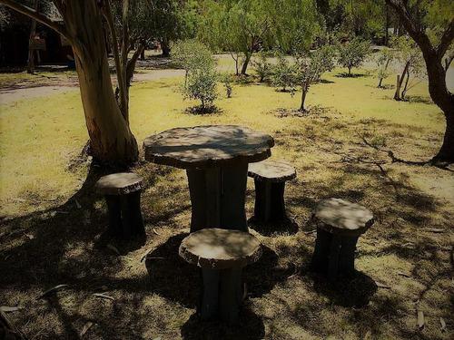 caminero de hormigon simil rolo de madera