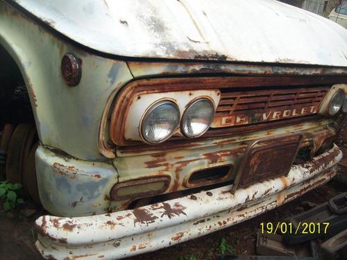 caminhao antigo chevrolet 1966 gasolina original 4 marchas