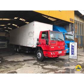 Caminhao Ford Cargo 1717 6x2 2003 Bau 9metros
