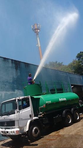 caminhao pipa tanque gascom  bombeiro traçado 6x4 atron 2729