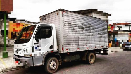 caminhão 3/4 mb 715 bau aceito carro de entrada até alienado