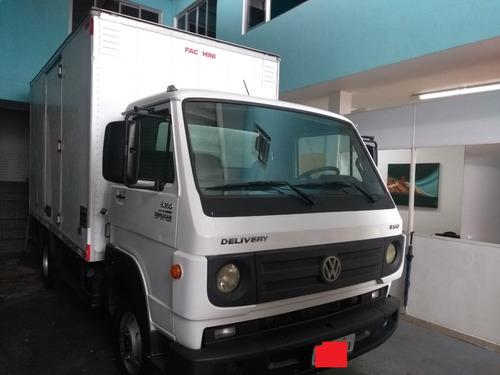 caminhão 3/4 vw 8160 com baú porta lateral