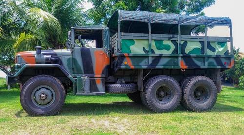 caminhão 6x6 militar reo m35 2 1/2 ton mwm 6cc turbo