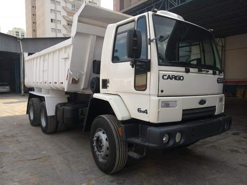caminhão basculante, ford cargo, 6332 e 6x4, ano 2011